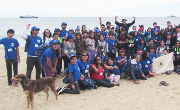 Students from Chile Valparaiso — Campamiento Cientifico
