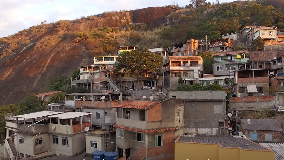 The  favelas  are home to 22 percent of the population and have no sanitation system.