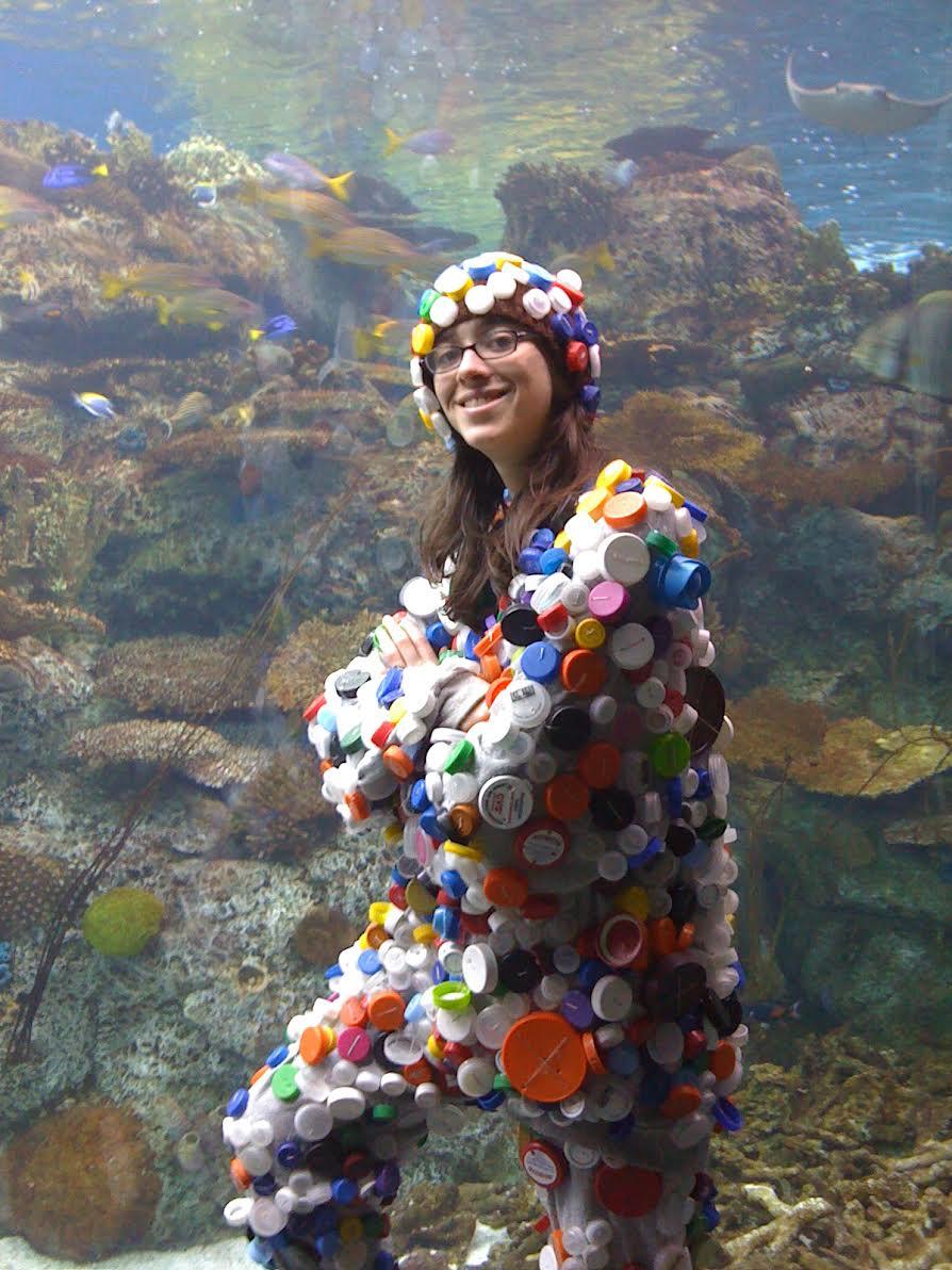 Or repurpose existing plastic into a costume.