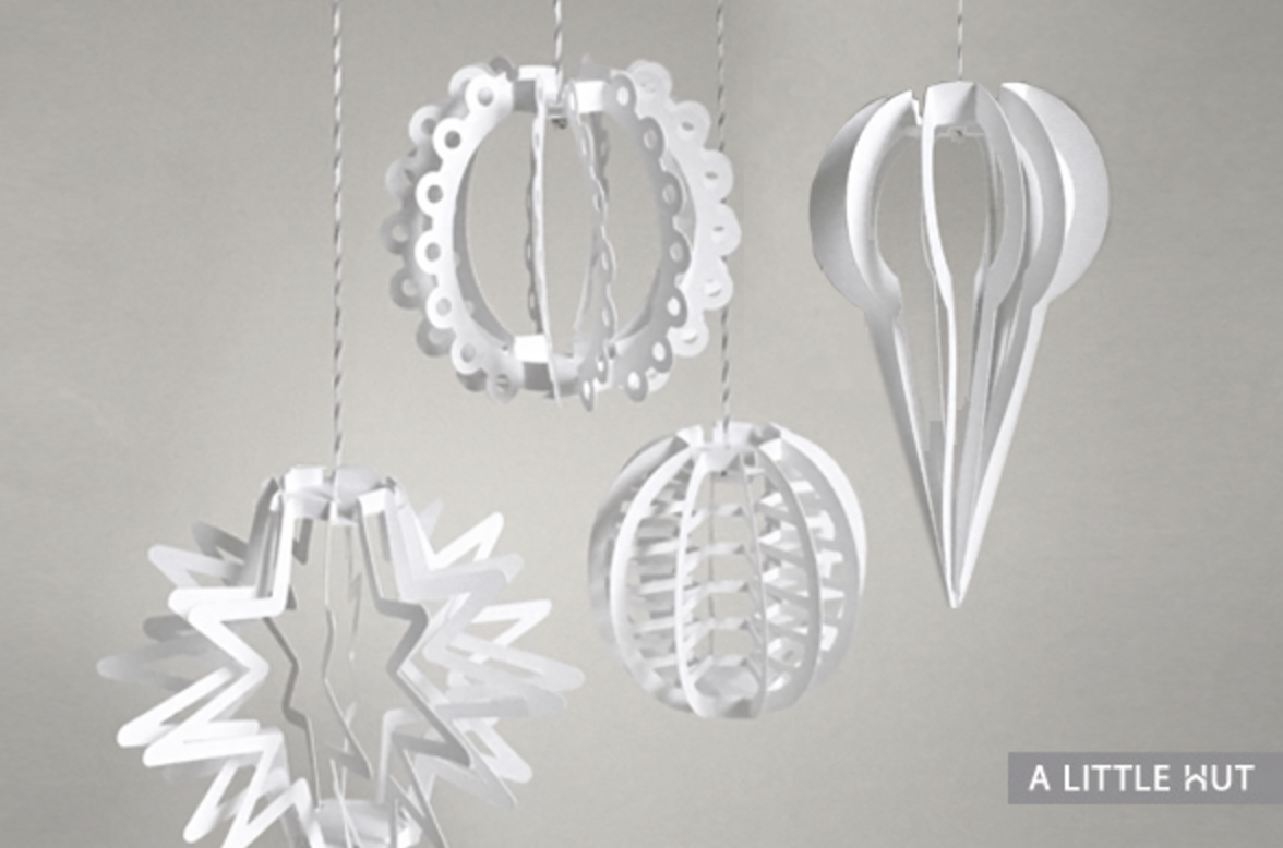 Use templates to make your own beautiful paper ornaments. Photo by  A Little Hut