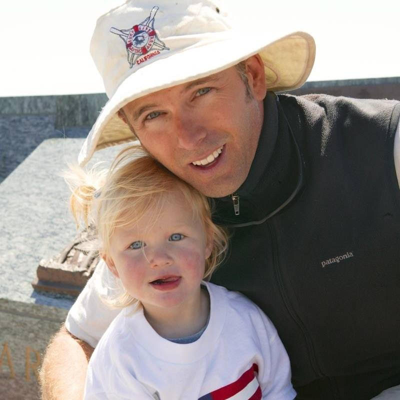 Crossing the Golden Gate bridge with my dad when we trekked the coast from Oregon to Mexico in 2003