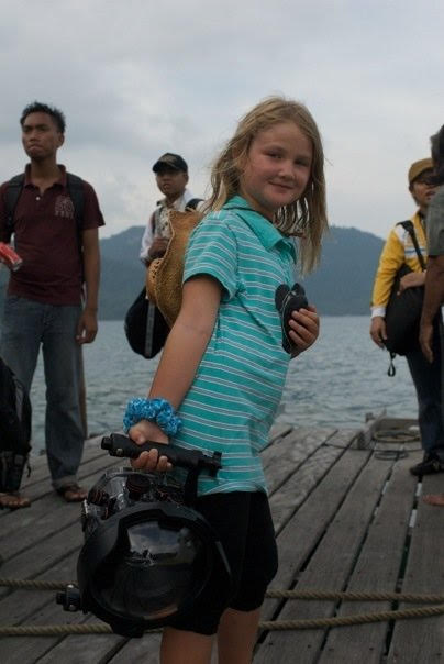 Helping the film crew in the Anambas Islands, Indonesia
