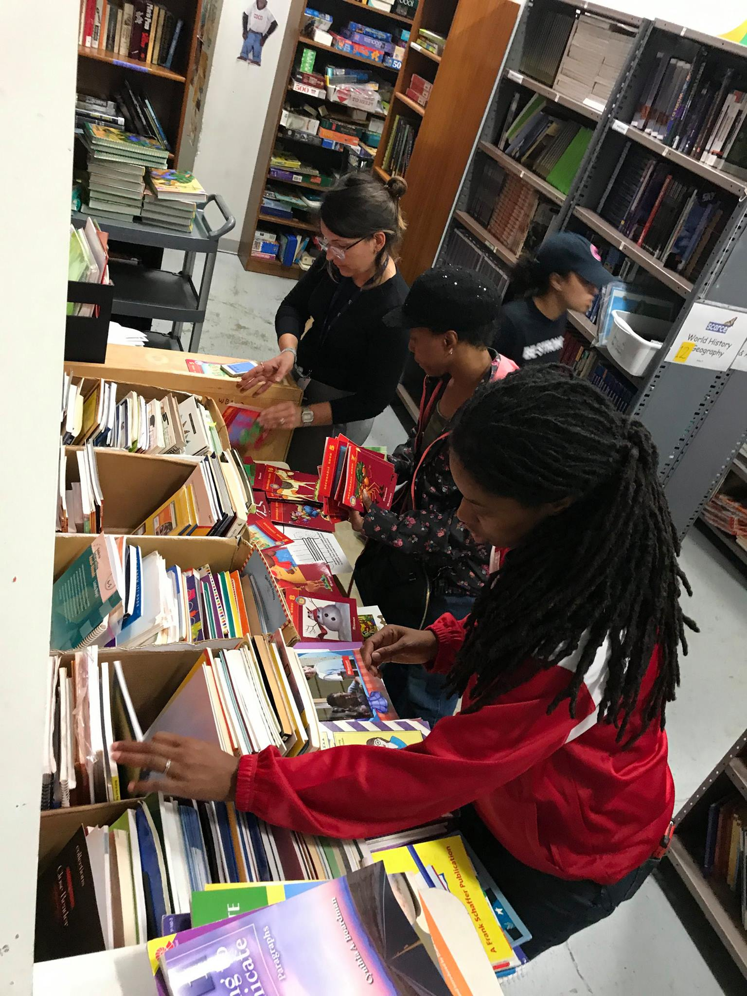 Teachers can take items from the Book Rescue for a small donation