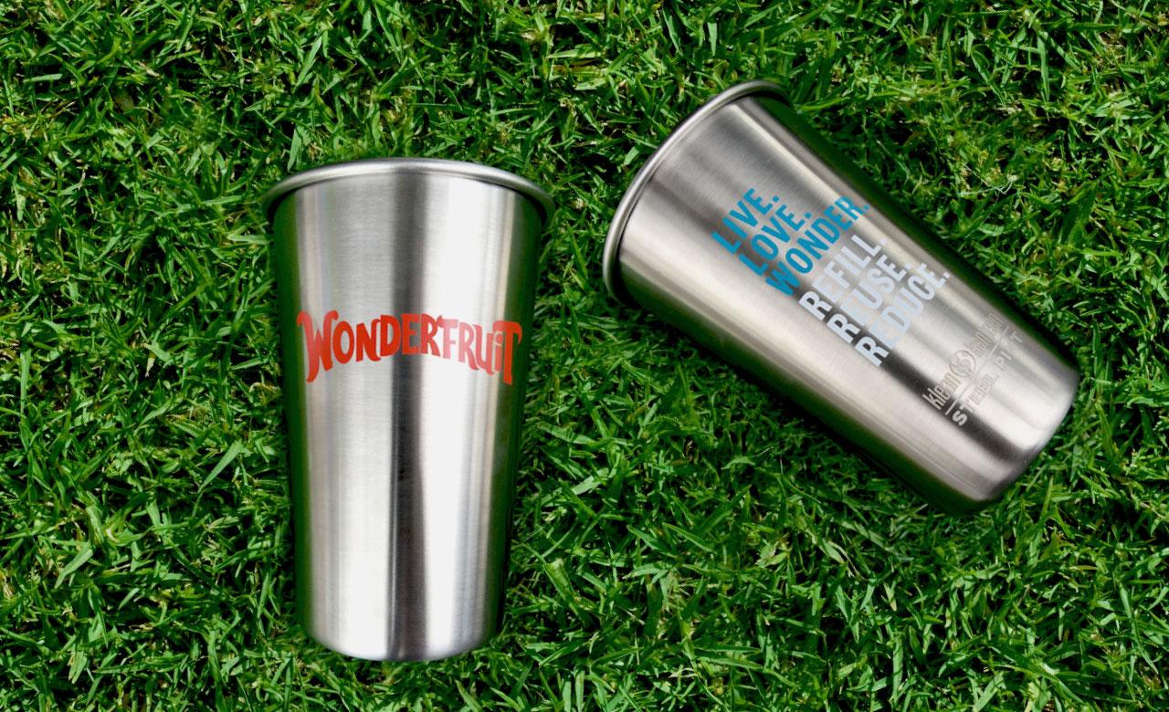 Steel cups help Wonderfruit join the #RefillRevolution