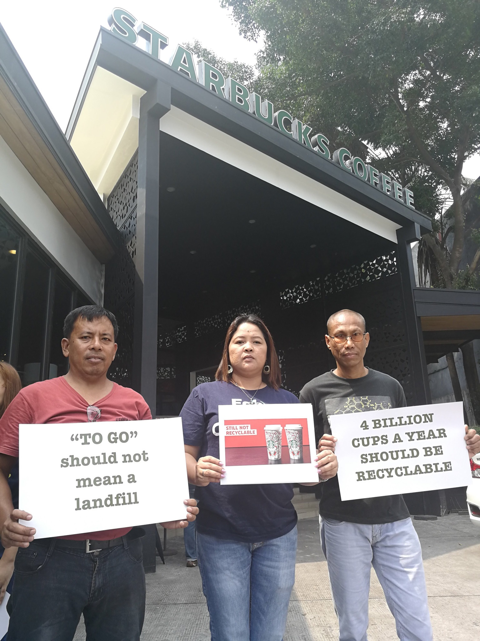 People in three countries in Asia: Philippines, Indonesia, and Taiwan, took direct action in their local Starbucks stores.