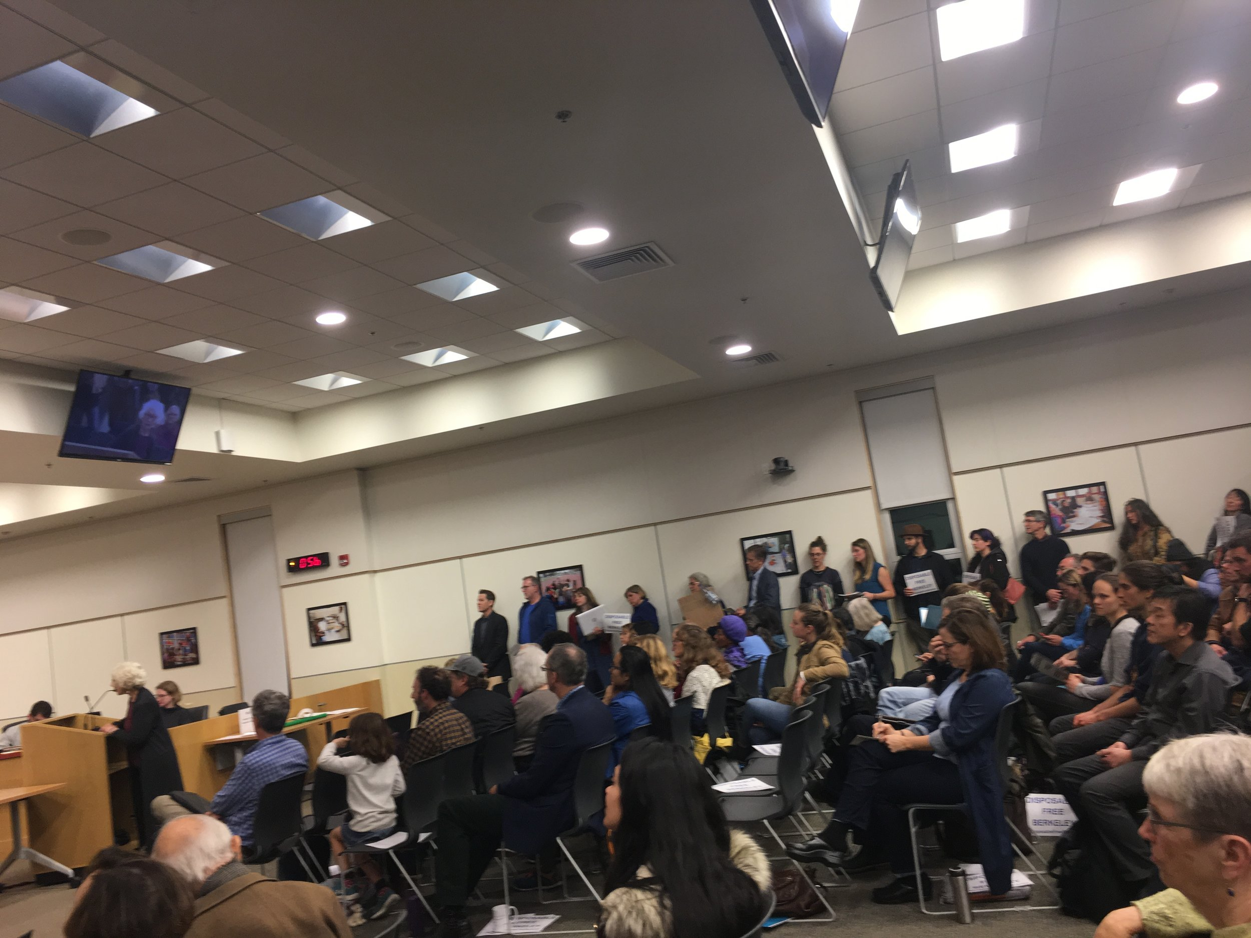 A packed room at the City Council meeting on Jan. 22.
