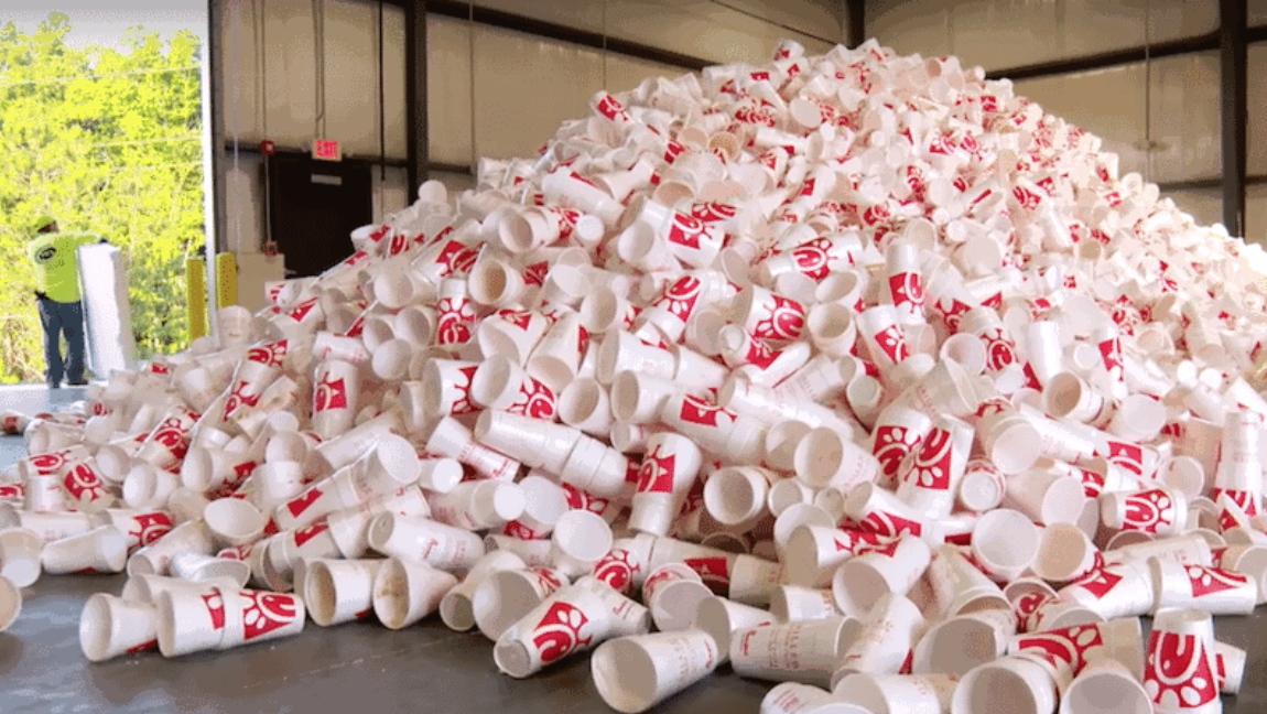 Tell Chick-Fil-A:    No more styrofoam!