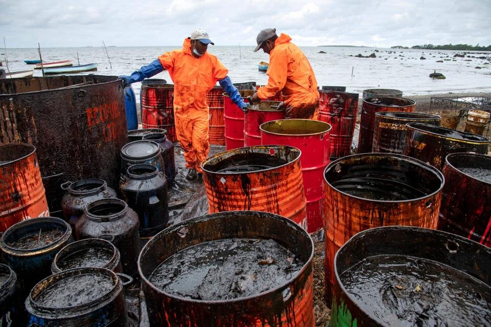 Was Plastics Being Mixed With Oil In Mauritius Spill To Produce A Horror 鈥楩rankenstein Fuel鈥�?     FORBES Nov. 10, 2020
