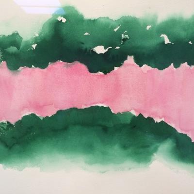 Georgia O'Keeffe watercolor