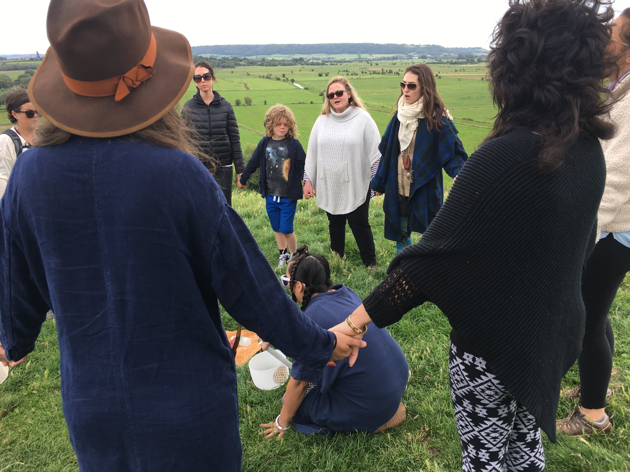 Falling in love with Gaia  Glastonbury 2017 pilgrimage on a Venus Day standing atop Burrow Mump, a place where the Mary and Michael ley lines intersect.