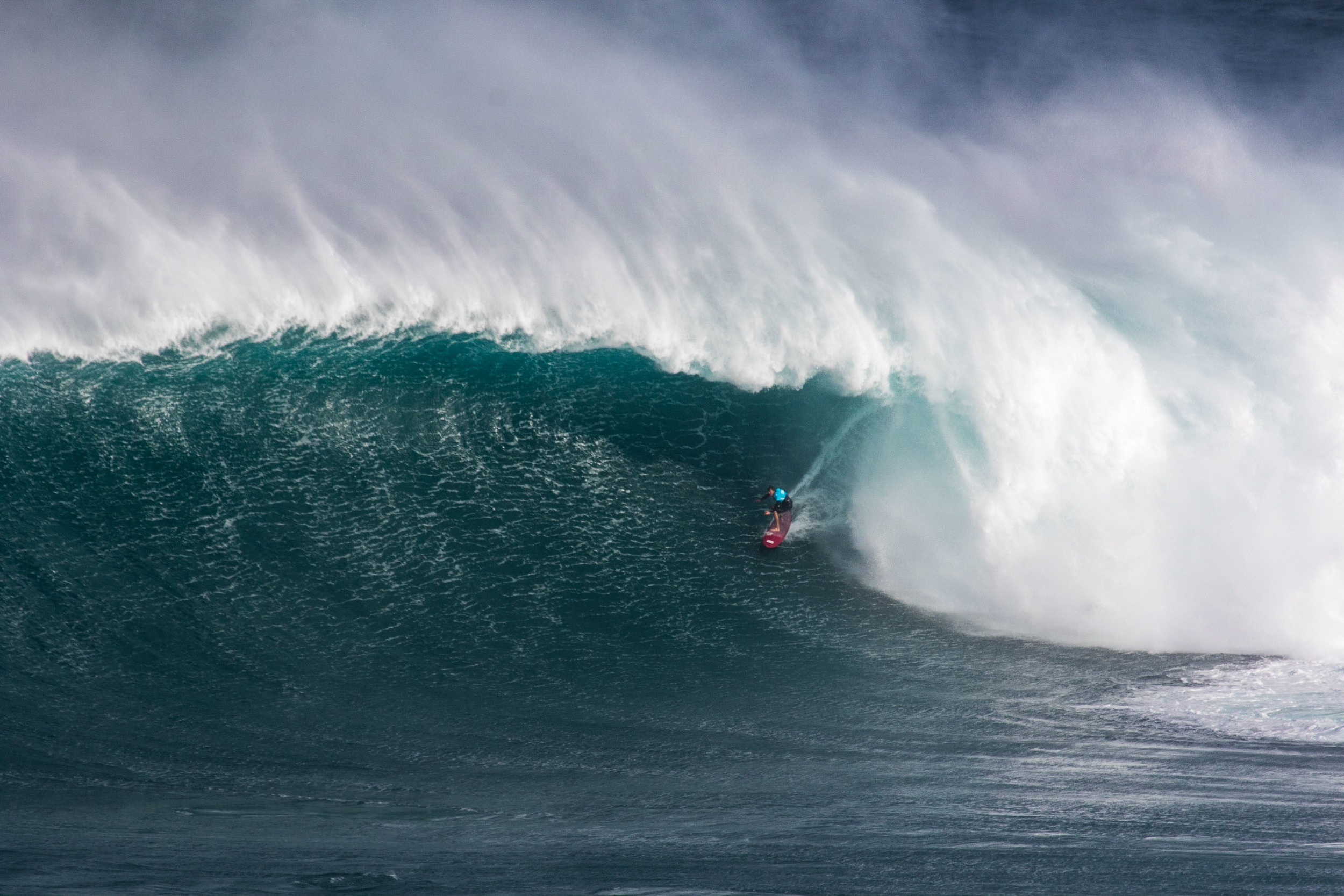 Greg Long at the WSL Peahi Challenge