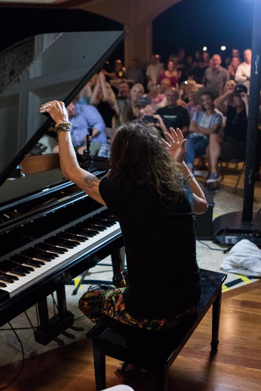 Steven Tyler performing.