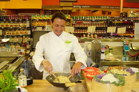 Christine doing a demo at Whole Foods
