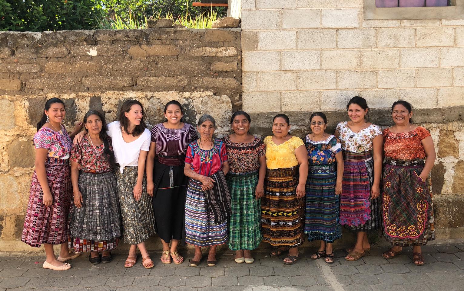 Maud avec son équipe au Guatemala