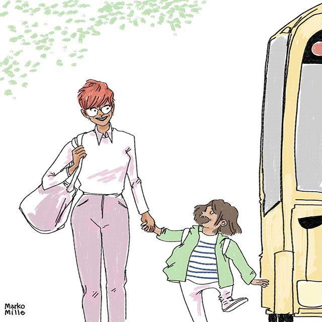 La routine reprend 😊 #schooldays #illustration #nycillustration Et vous, quelle habitude êtes vous contentes de retrouver ?