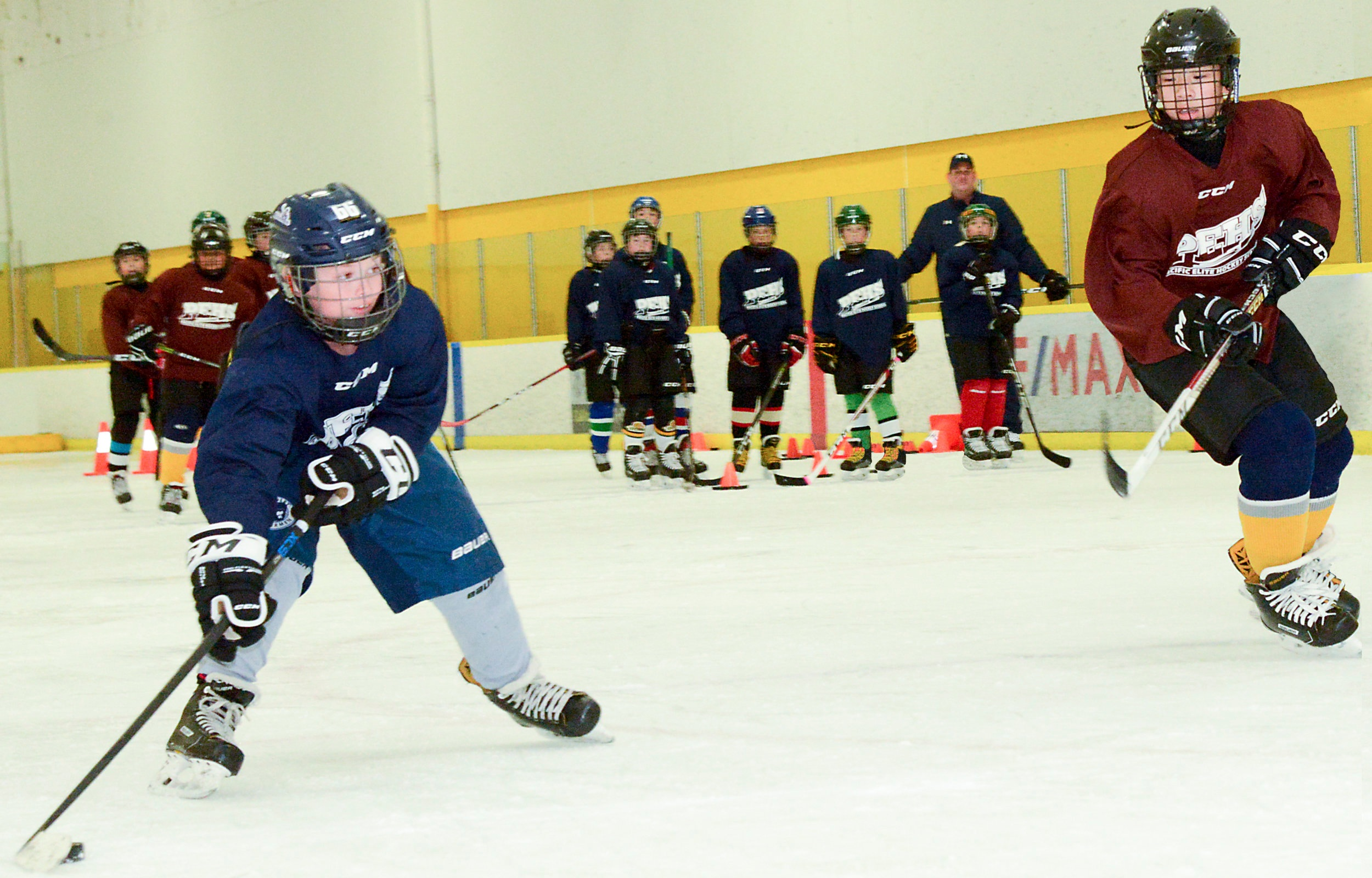 Shooting with a purpose, sidebar photo for Shooting, Power Skating and Scoring Combo