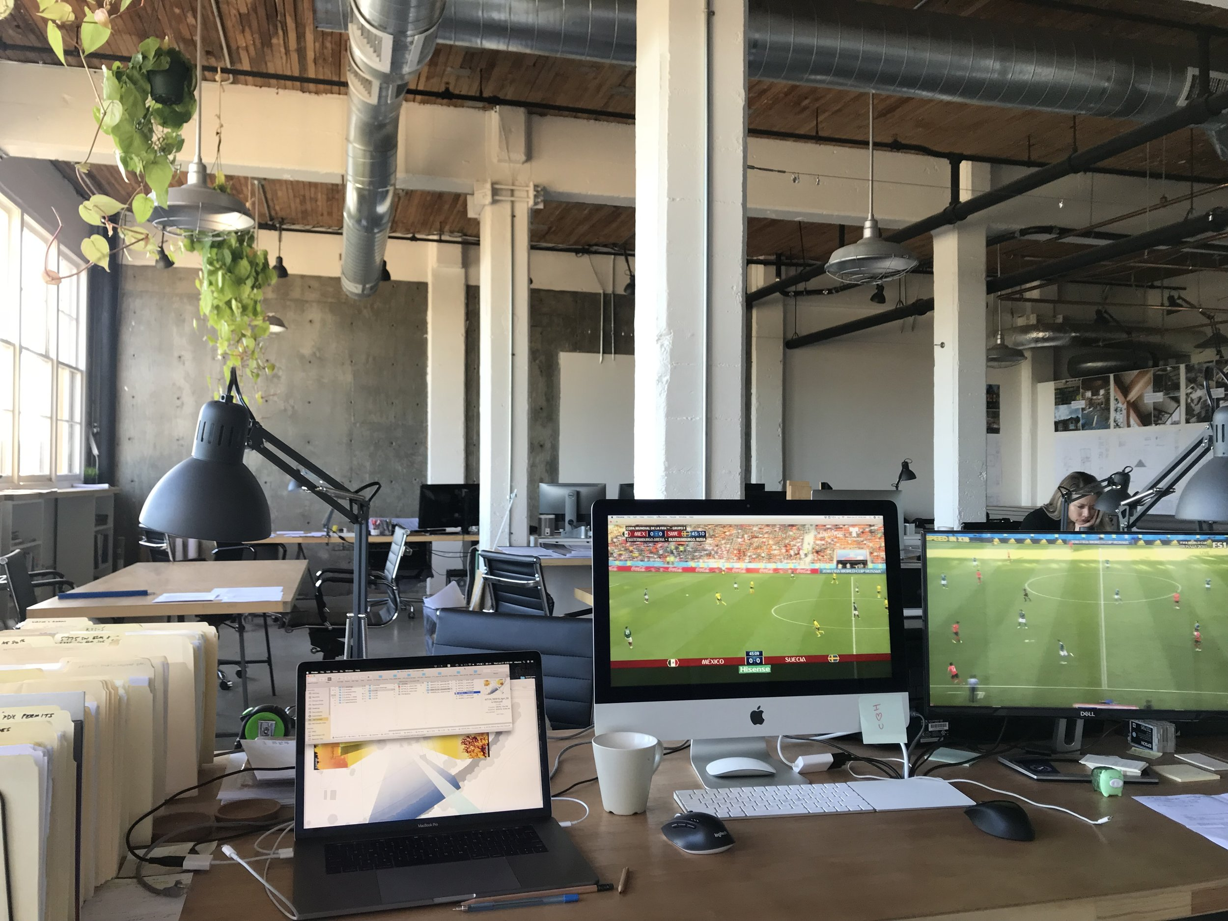 Celebrating a time-honored architecture firm tradition.  #metaamo #worldcup