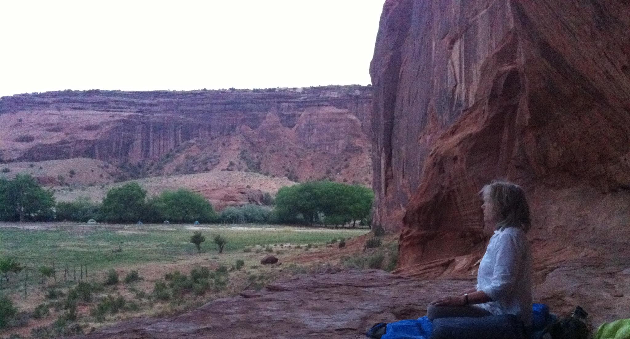 Sleeping on a ledge next to 1000 year old Anasazi paintings