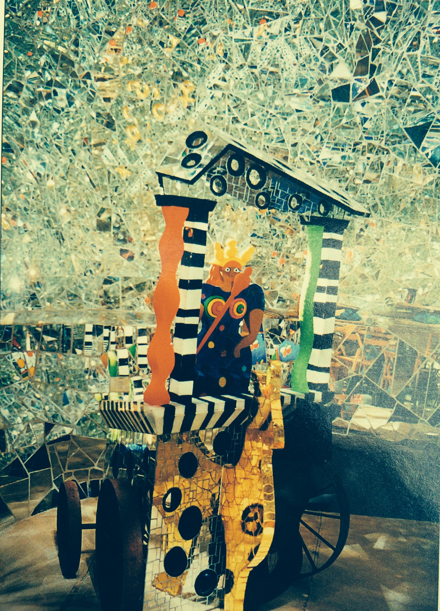 The Chariot from Niki de Saint Phalle's Tarot Garden