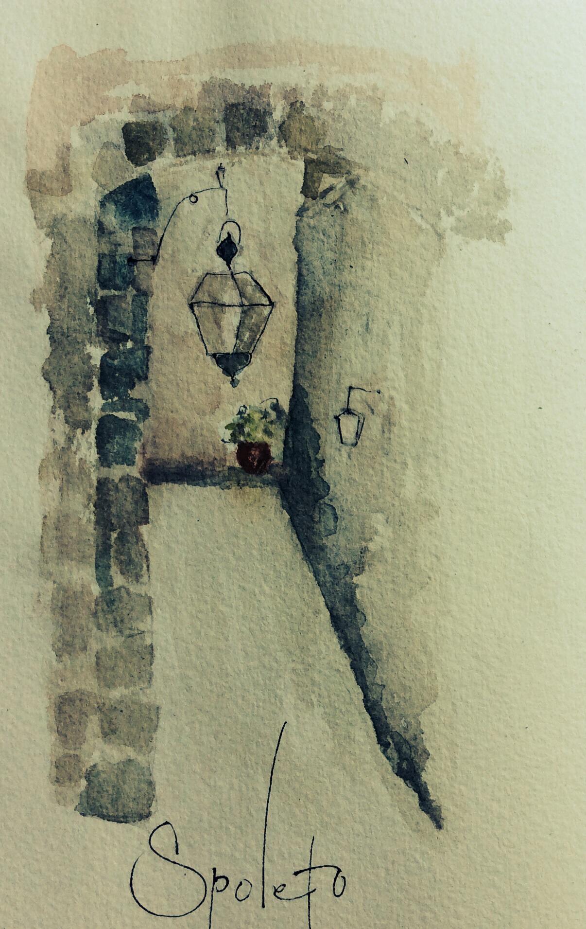 Pathway in Spoleto, L Doctor sketchbook