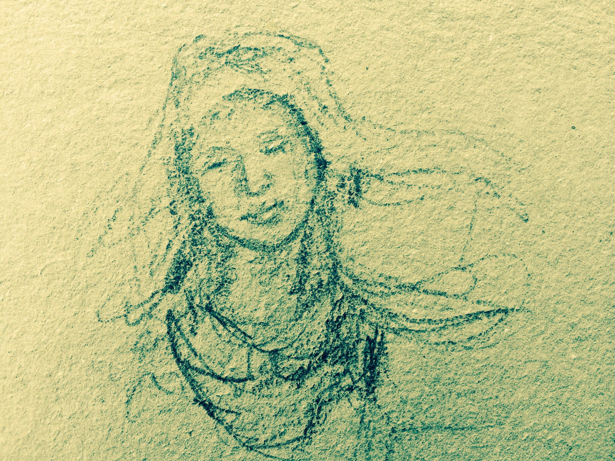 Quick sketch of Mary from the duomo in Orvieto, L Doctor