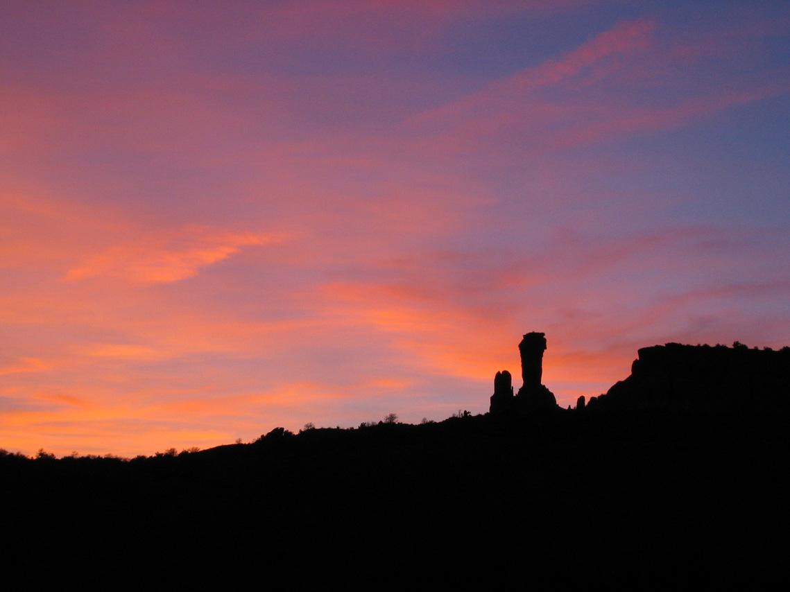 Sunset at Ghost Ranch, photo by Kati Van Aernum