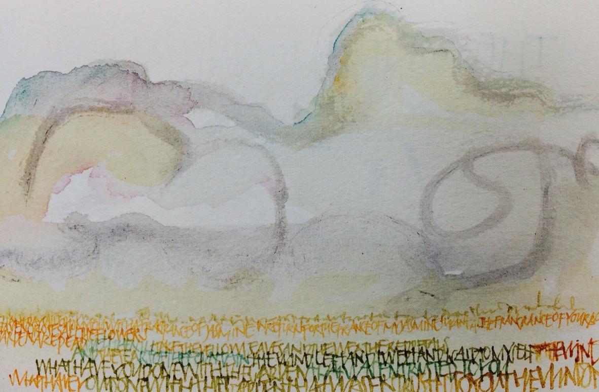 Text as landscape–L Doctor Sketchbook