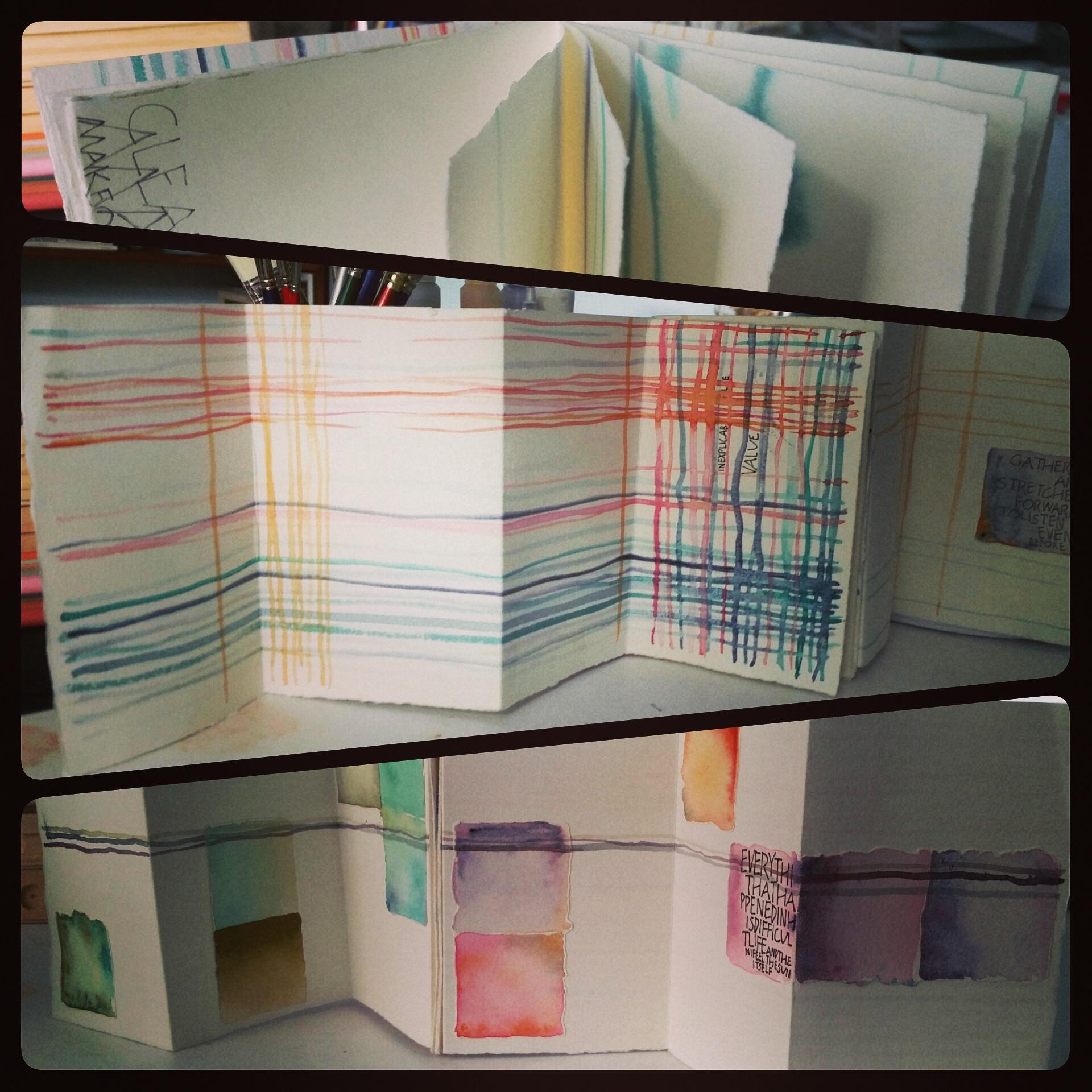 Jessica Singleton: Accordion book with folio