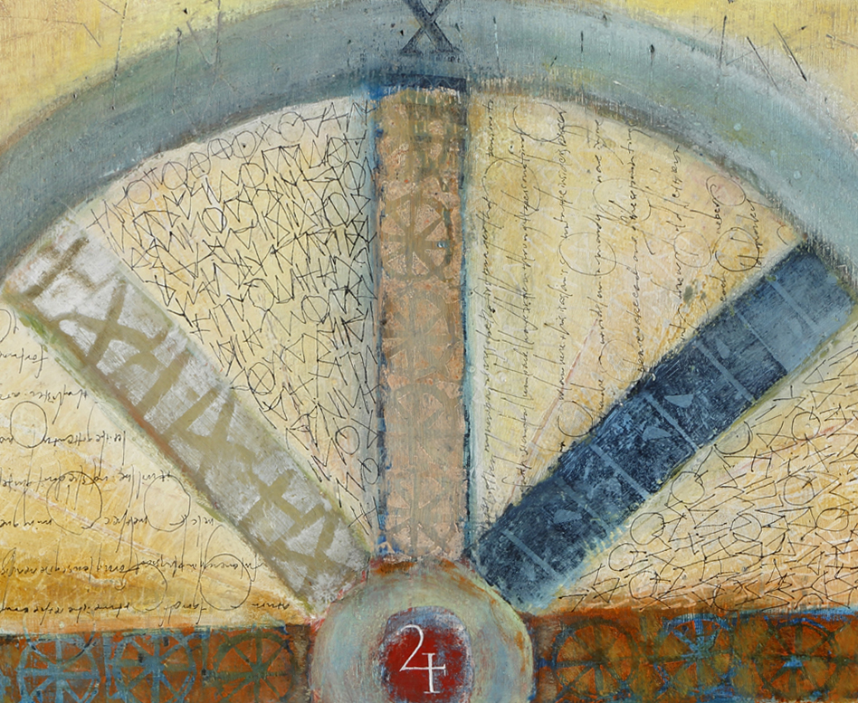 Detail of  Wheel of Time  or  Turn of Good Fortune  L Doctor