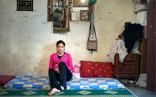 Mariam, Bourj  al Shamali Palestinian Refugee Camp     Photo by Rania Matar