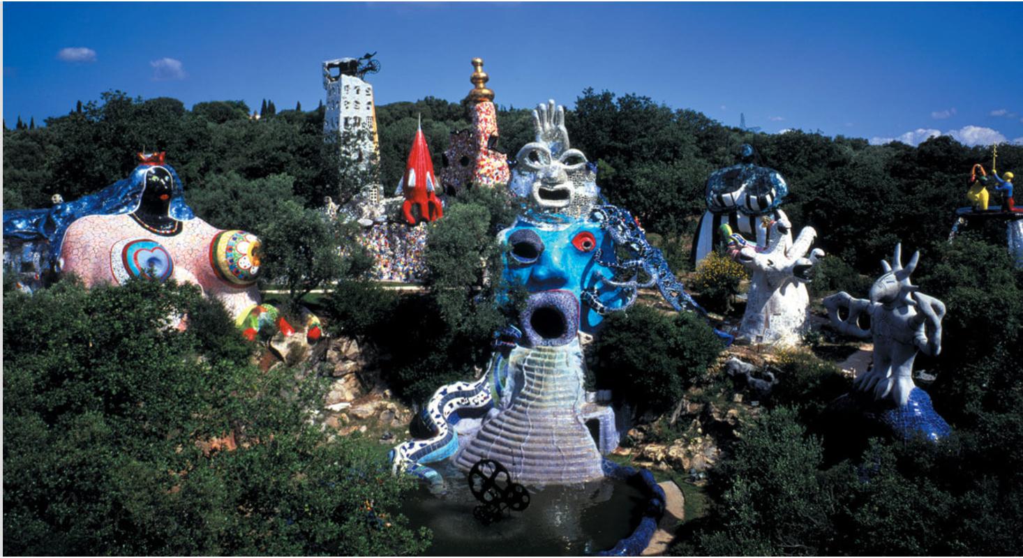 Niki de Saint Phalle's esoteric sculpture garden based on the Tarot cards