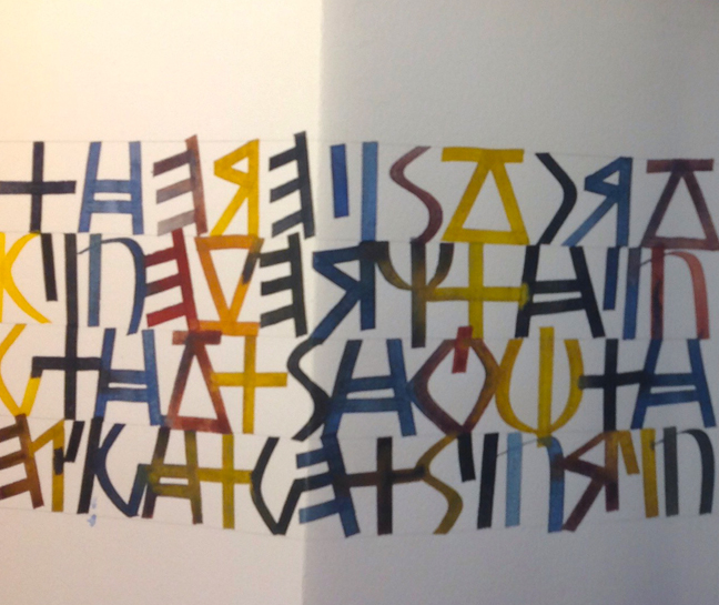 """Book detail from Noelle Gulden, using our """"Greek"""" alphabet"""