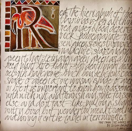 L Doctor Sketchbook: Red is the hieroglyph of flamingo