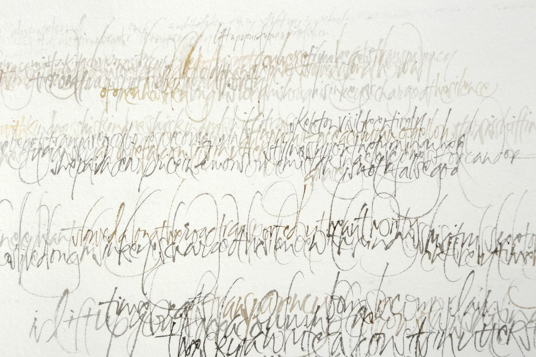 Lettering as landscape  – L Doctor sketchbook