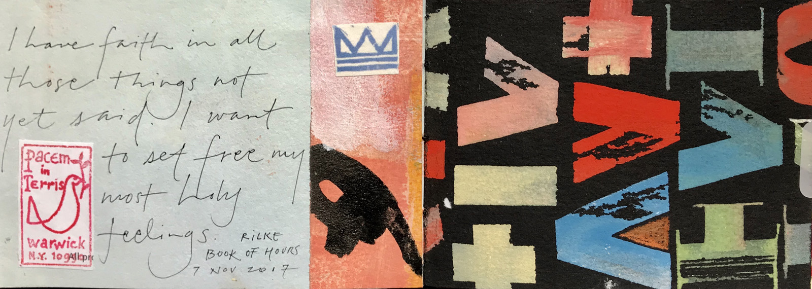 I have faith in all those things not yet said   (Crown + water image from  Mountain Water Ranch)        –L Doctor sketchbook