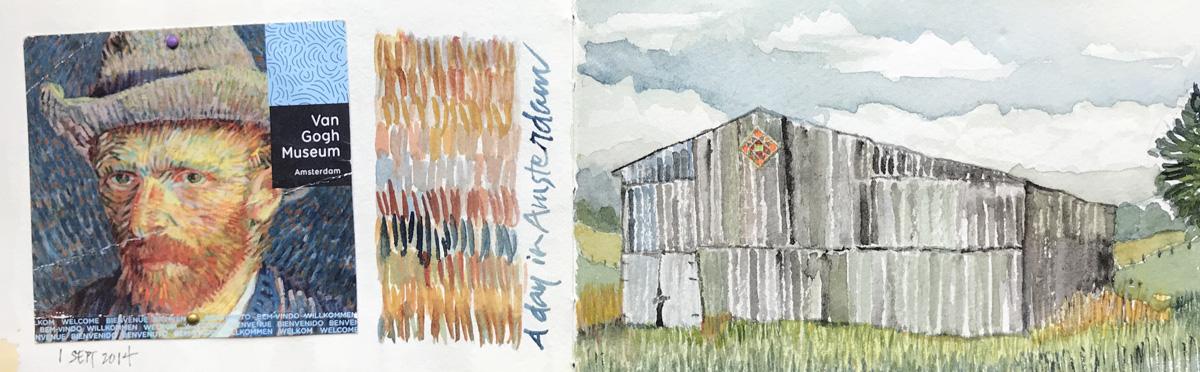 Kentucky barn inspired by Van Gogh  –L Doctor Sketchbook