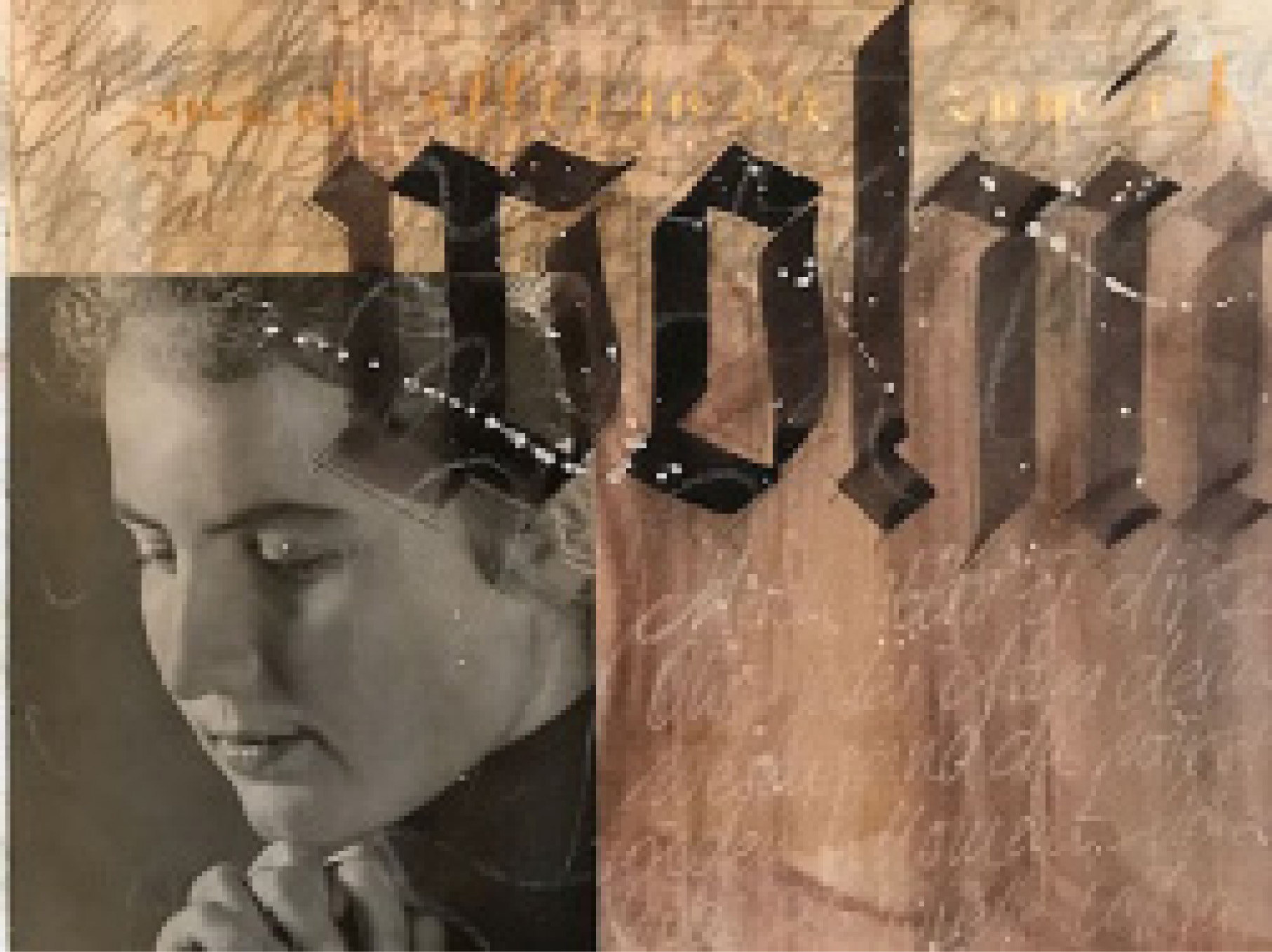 Where to?  –Calligraphy and collage by Sabine Danielzig