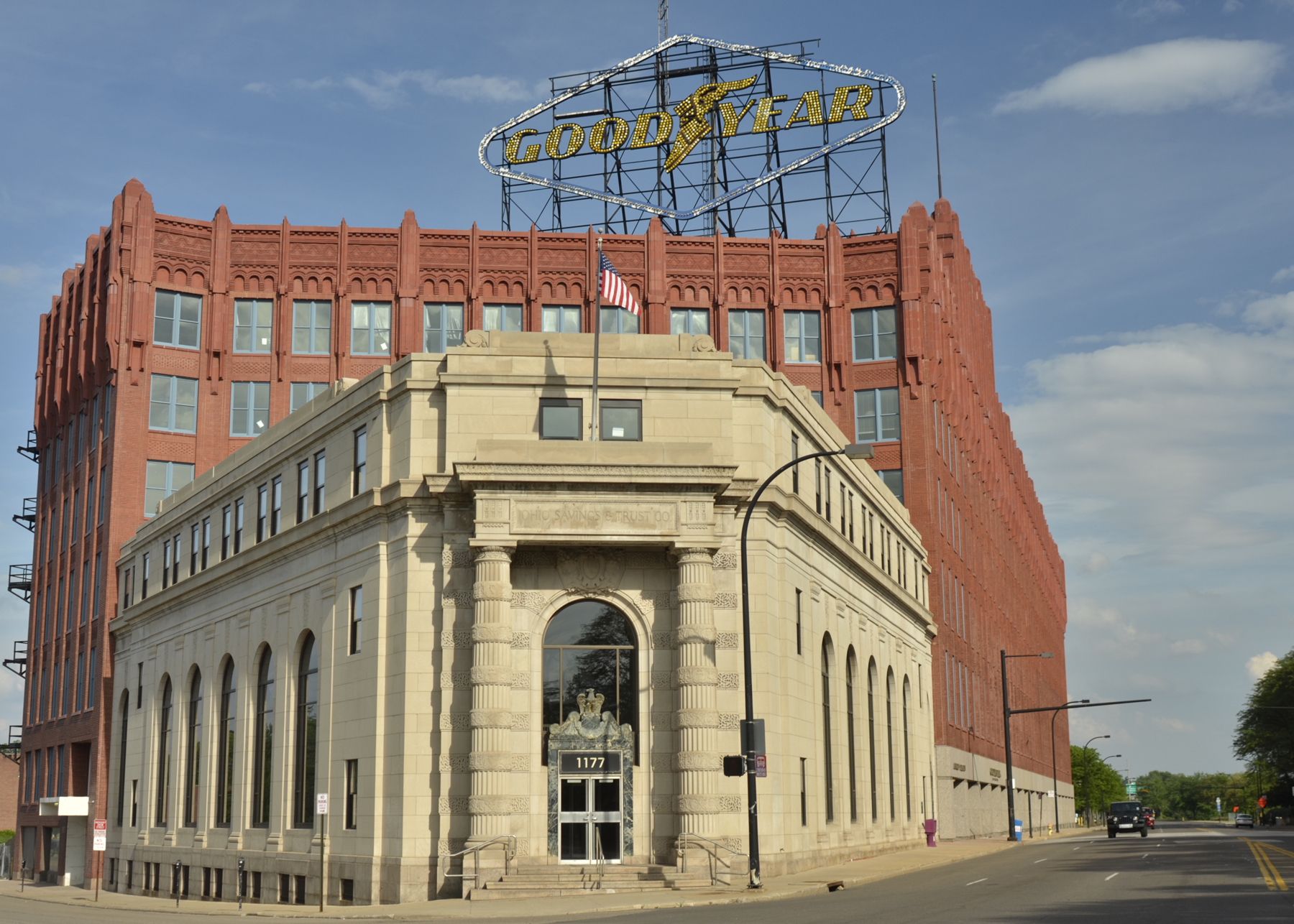 Vacant Goodyear facility converted into a mixed use project, Akron, OH - NMTC & HTC