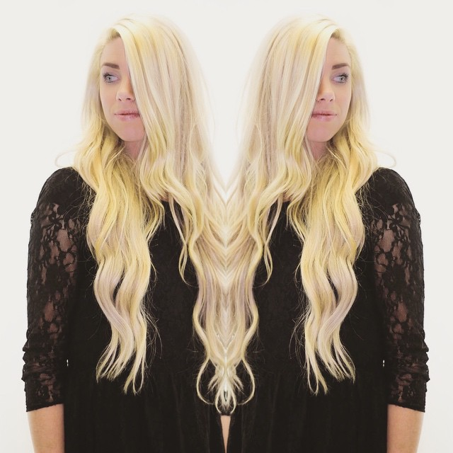 Wow! @savloop looks amazing with her long blonde beautiful hair 😍                                                        Click on  bio to purchase this hair extension!  #longhair #hairextensions #utahhair #blondehair #hair #hairstyles