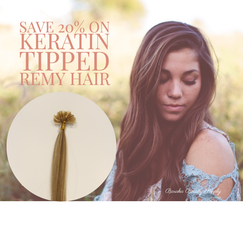 keratin tipped remy hair sale