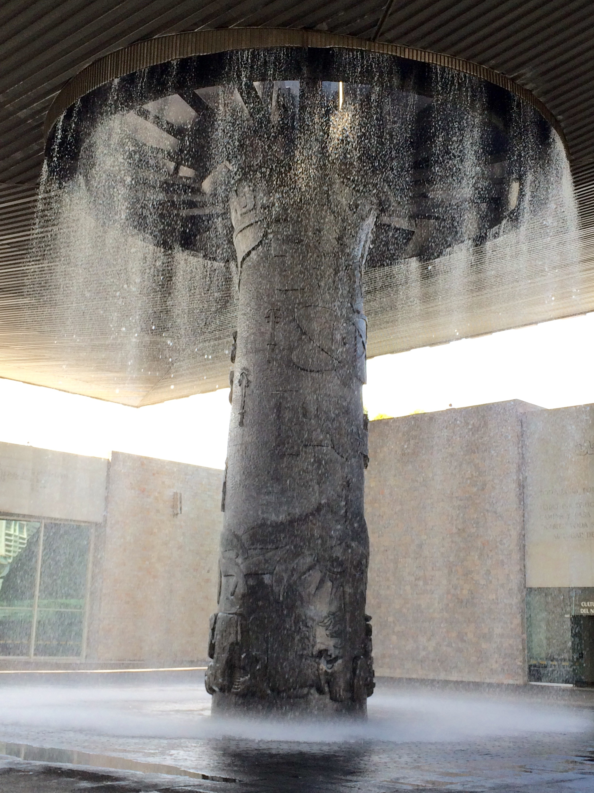 the umbrella at the national museum of anthropology in mx