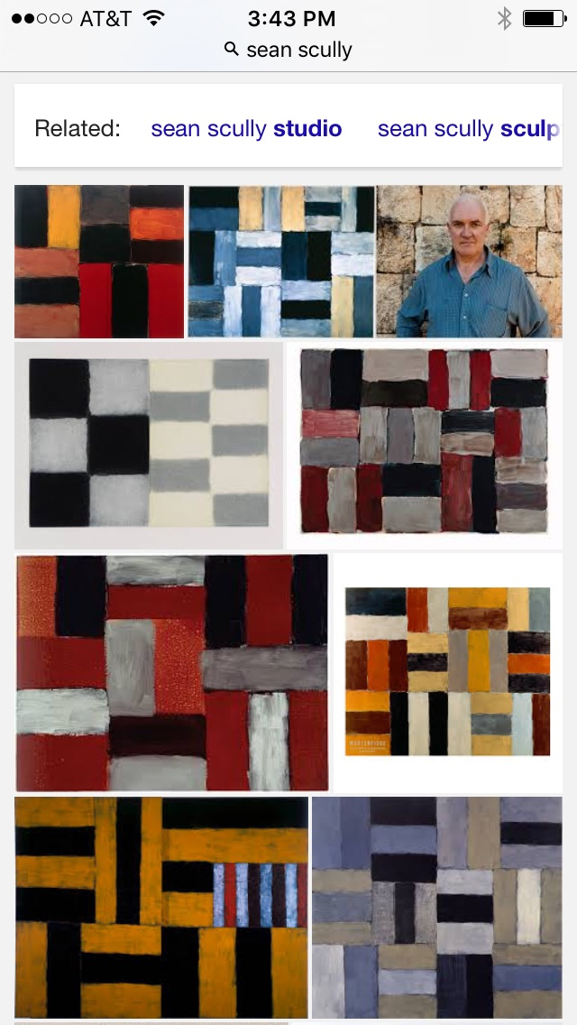 Screen shot of Sean Scully images on Google.