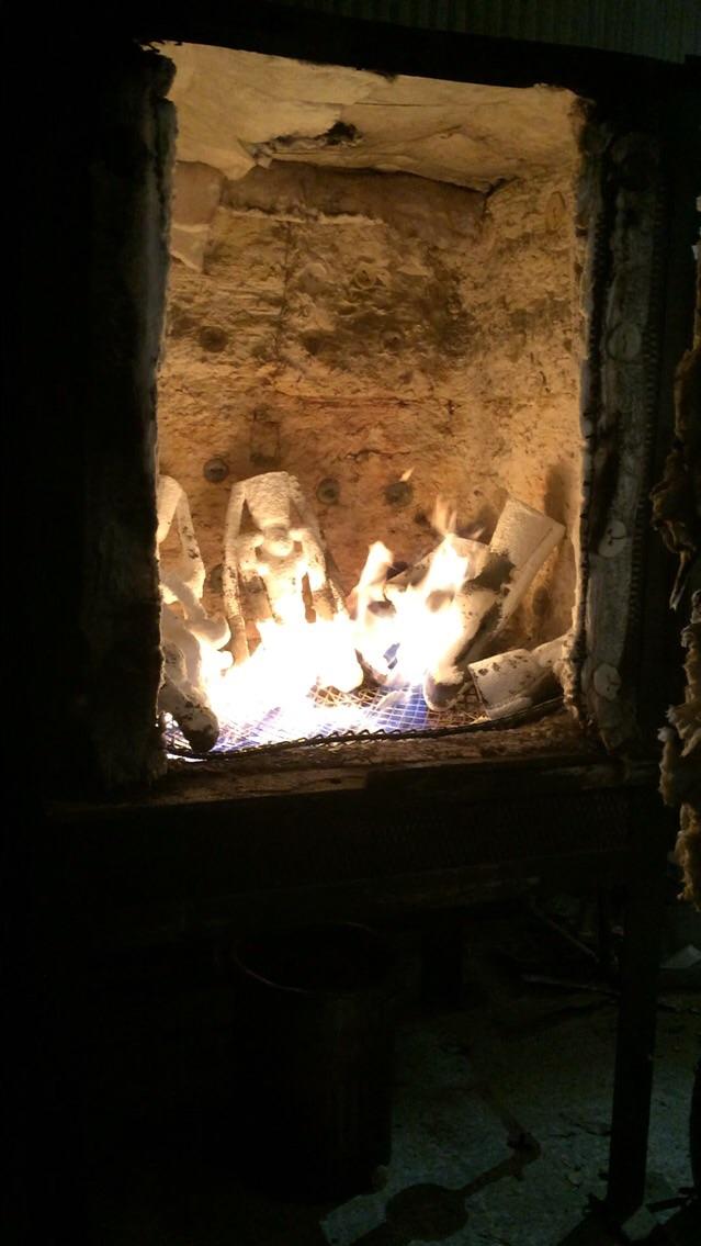 Heating in the kiln