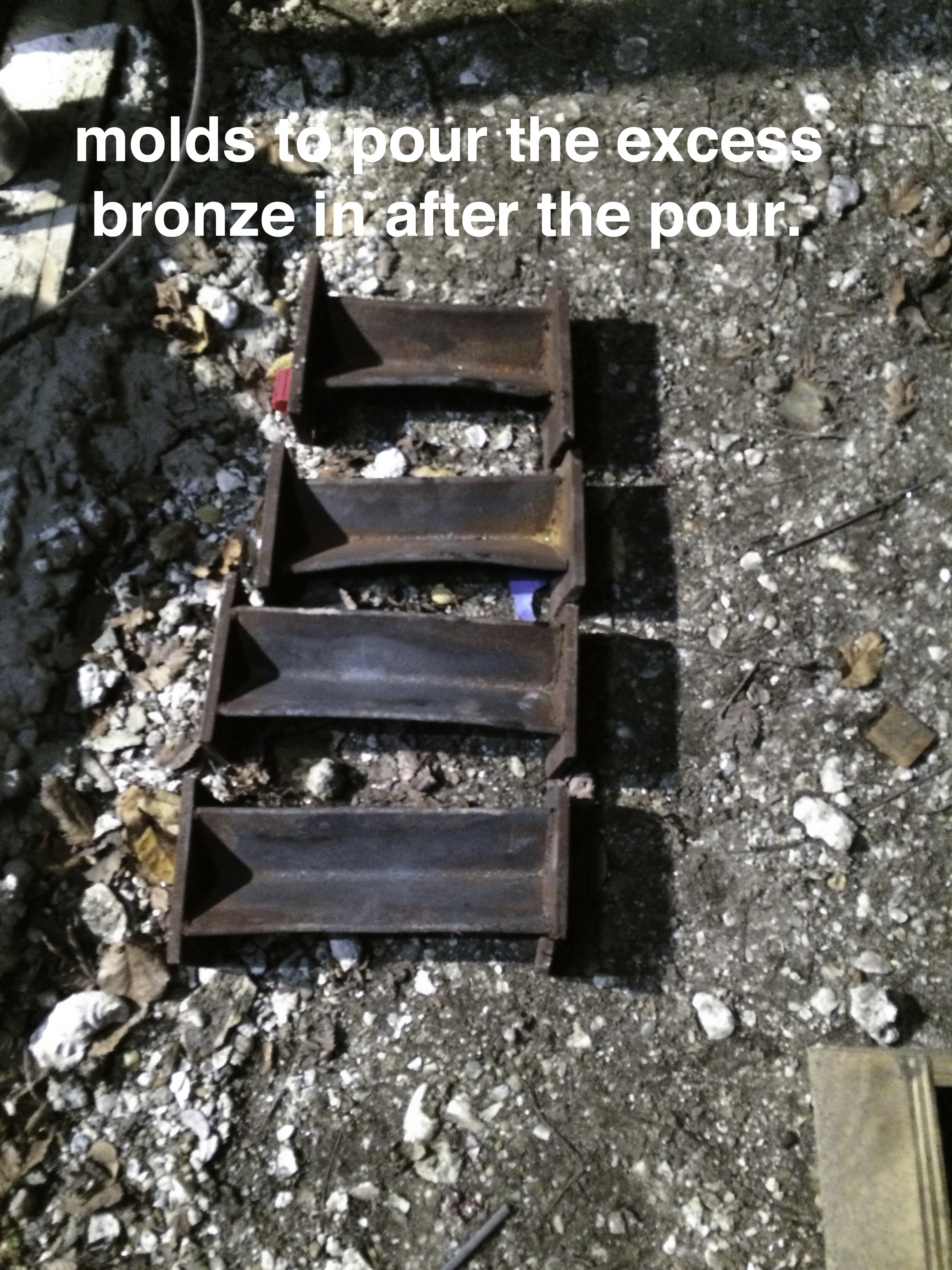 Molds for excess bronze