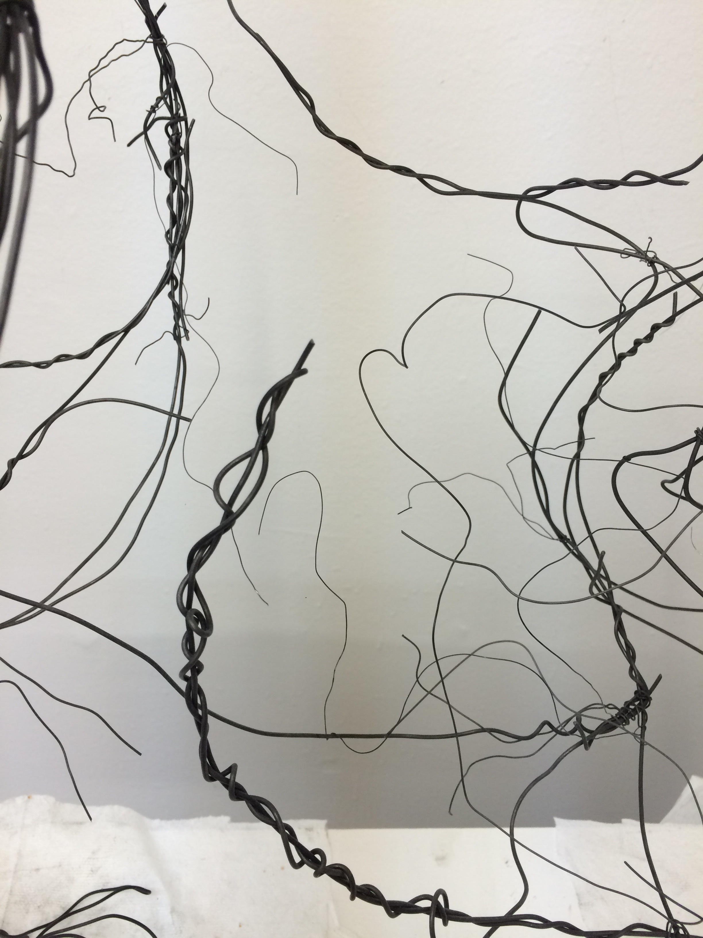 Wire sculpture in process