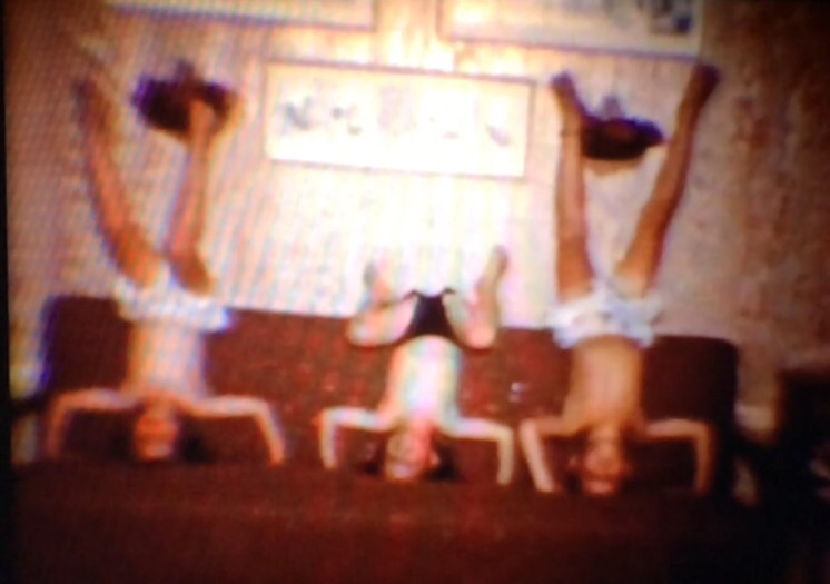Screen shot from a klement family home movie.