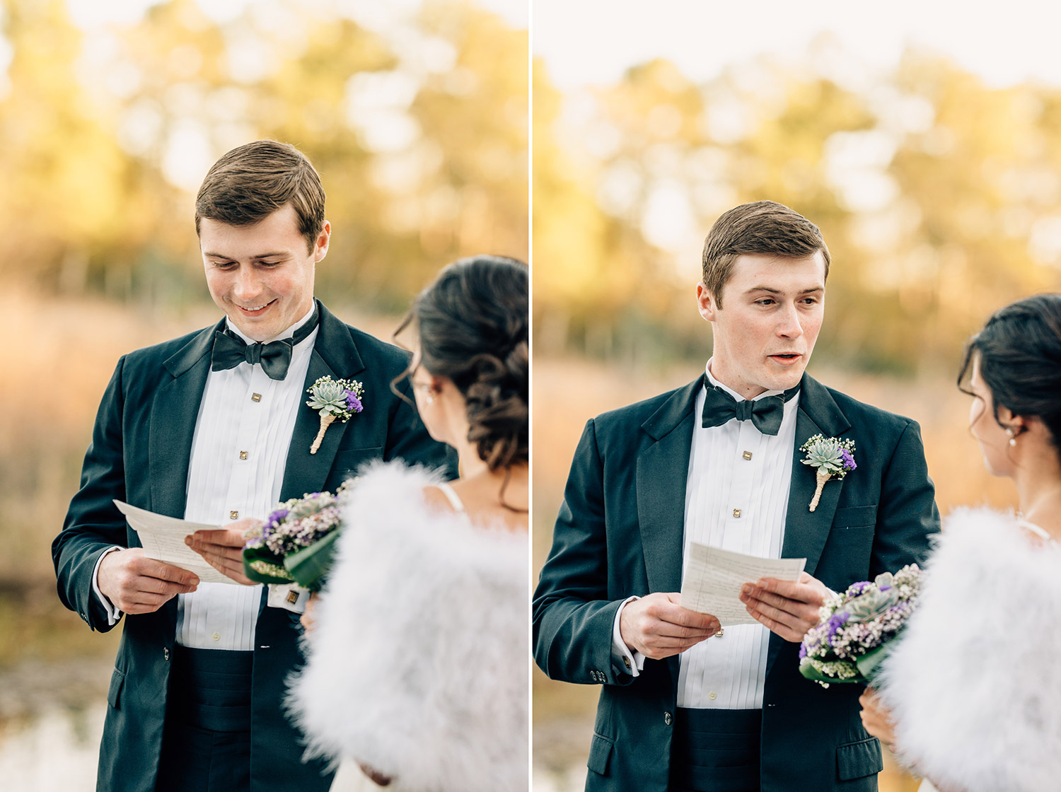 They each wrote their own vows