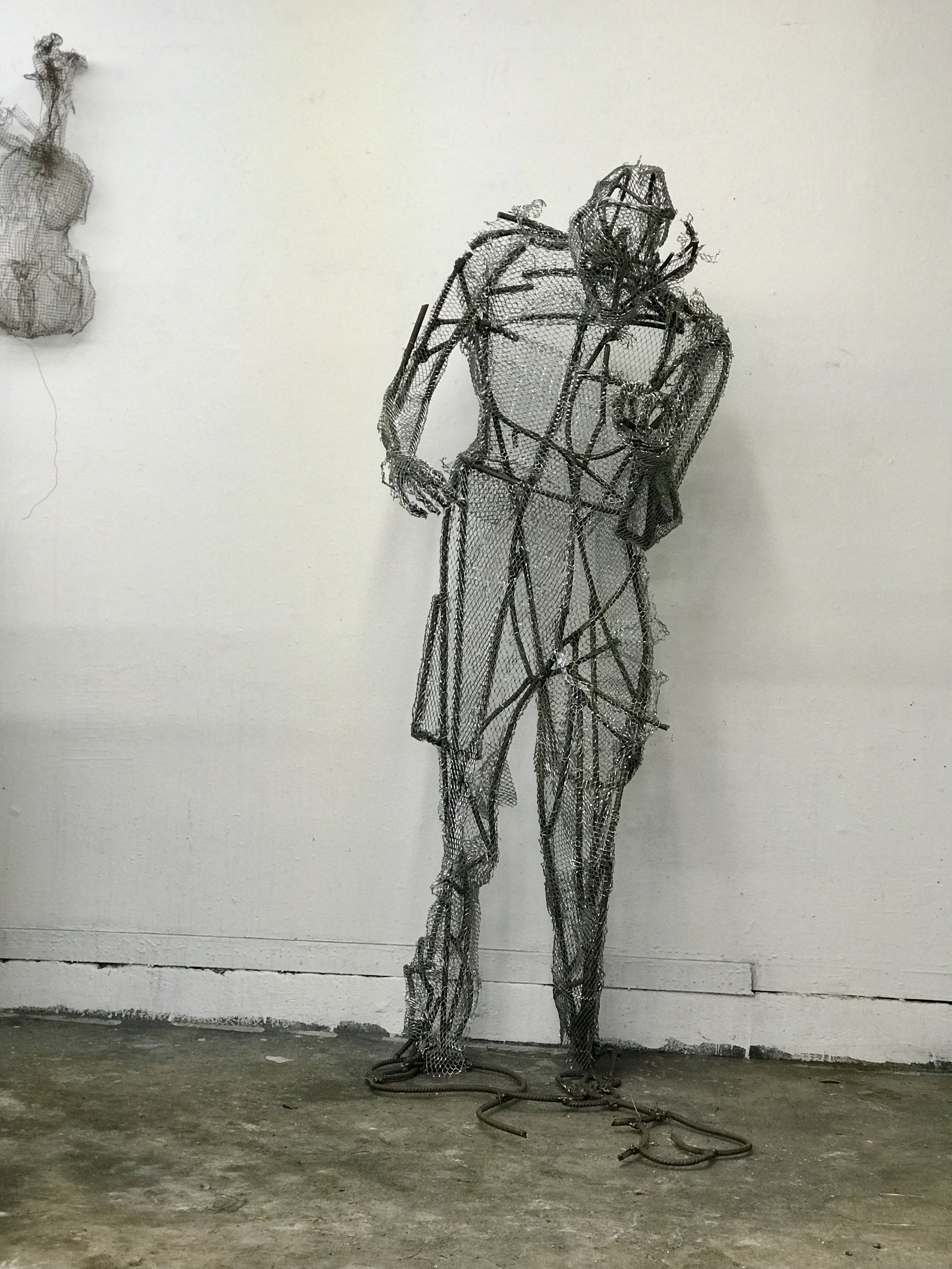 When Devin and I met on January 25th. I had just finished the armature so the sculpture looked like this.