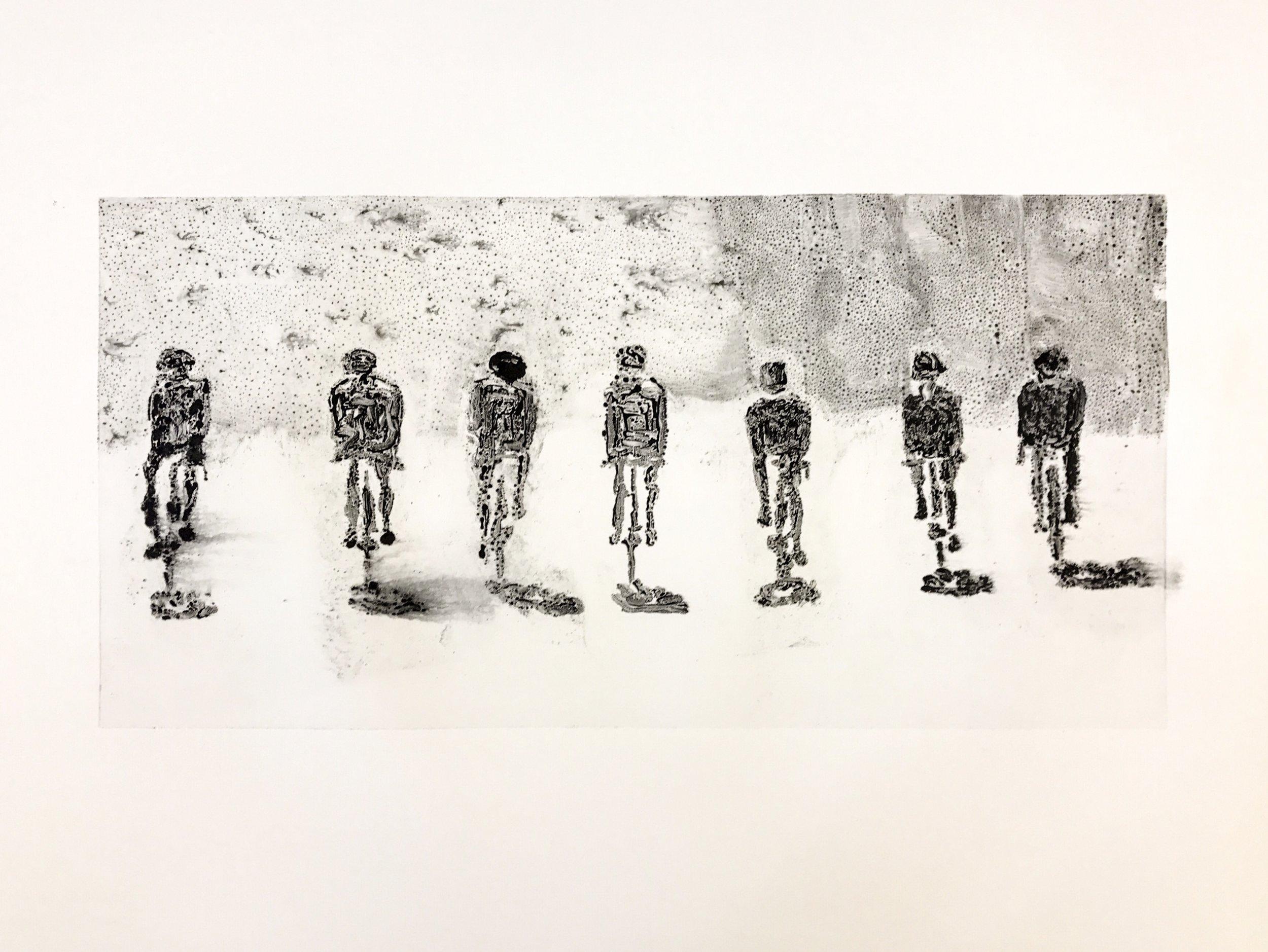 Seven cyclist