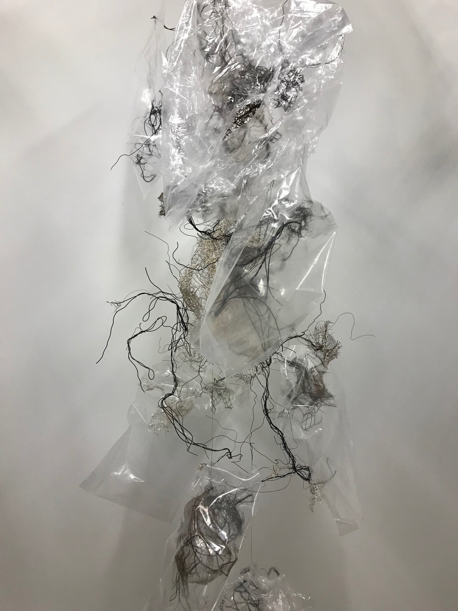 Each small element bagged separately making bouquet of bee cocoons